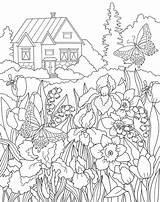 Coloring Secret Fairy Adults Coloritura Giardino Pagina Segreto Garten Coloration Jardin Colouring Adult Printable Printables Cartoon Geheime Farbtonseite Licorne Fille sketch template