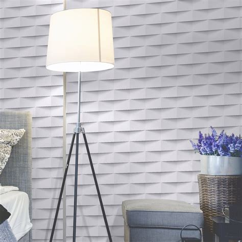 peinture carrelage cuisine castorama papier peint intissé 3d origami blanc leroy merlin