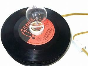 Get funky with vintage vinyl record lighting lightopia39s for Lamp light records