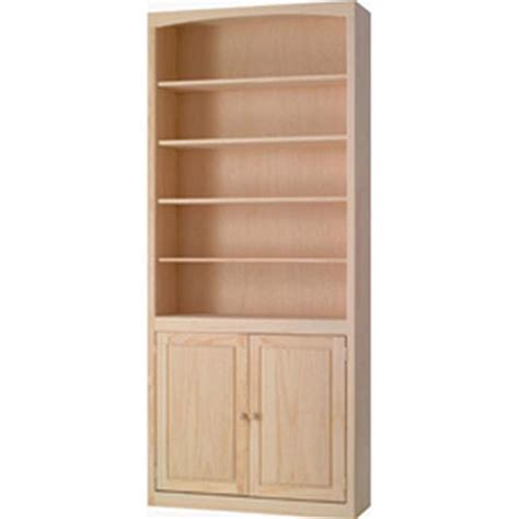 Unfinished Bookcases With Doors by Pine 36 Inch Bookcase With Doors Unfinished