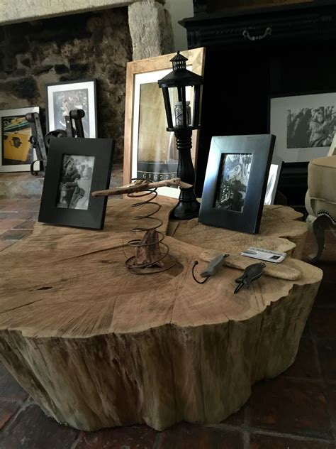tronc d arbre deco interieur table basse tronc d arbre