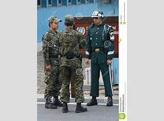 South Korean Soldiers On The Border At Panmunjom Editorial