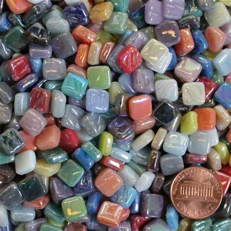 mosaic tile supplies assorted iridescent exxxiri