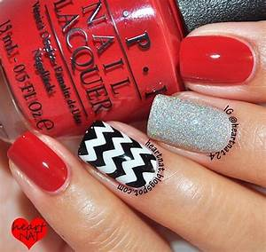 10 Red Black And Silver Nail Designs Images - Light Pink ...