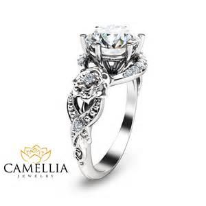 moissanite engagement rings gold 2ct moissanite engagement ring 14k white gold engagement ring