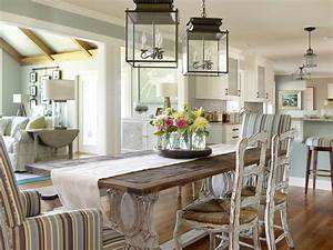 farmhouse dining table Dining Room Beach with none