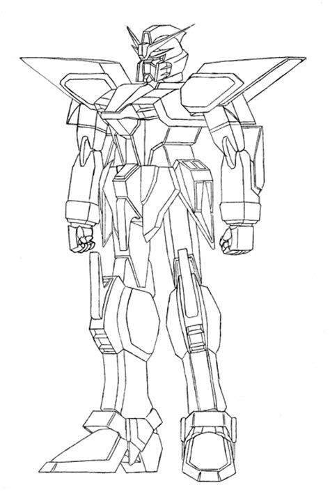 big gundam anime robot learn  coloring