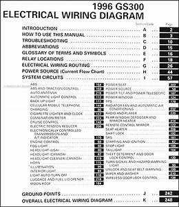 1996 Lexus Gs 300 Oem Electrical Wiring Diagram Manual 96 Gs300 Orignal