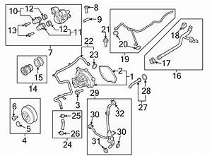 2016 Porsche Macan Vent  Coolant  Engine  Pipe  Line Water