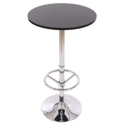 table bar haute cuisine pas cher table de bar table haute bari ronde avec repose pied