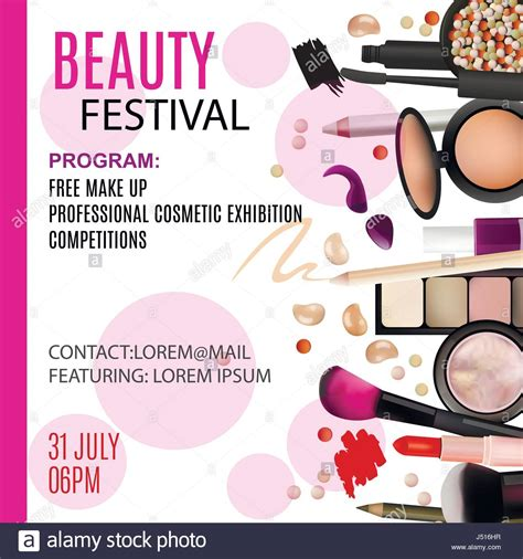beauty festival poster design cosmetic products
