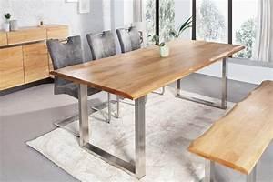 Tisch Mit Kufengestell : massiver baumstamm tisch 220cm eiche massivholz baumkante esstisch mit kufengestell aus ~ Sanjose-hotels-ca.com Haus und Dekorationen