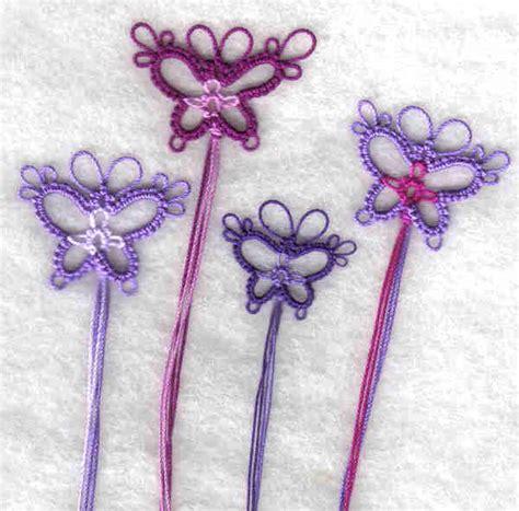 yarnplayers tatting blog butterfly bookmarks