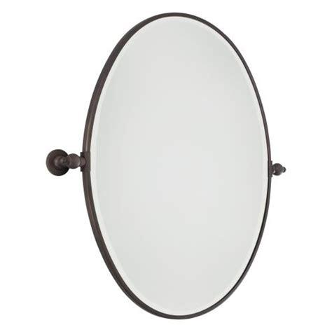 oval pivoting bathroom mirror minka lavery 1433 267 brushed bronze pivoting