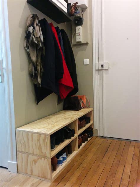 fabriquer un meuble a chaussures facile creer un meuble entree