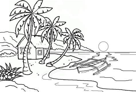 mewarnai gambar pemandangan alam laut belajarmewarnai info