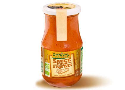 plats cuisin駸 bio tex mex sauce pour fajitas 430g danival