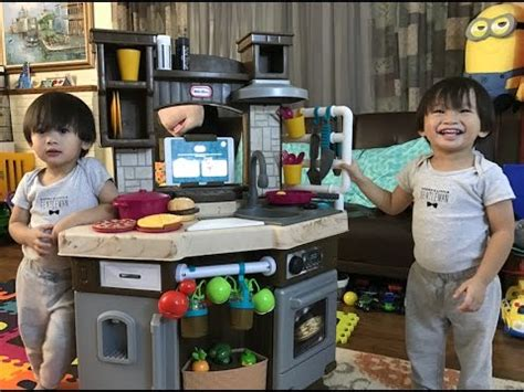 tikes cook  learn smart kitchen set unboxing kids toys review youtube