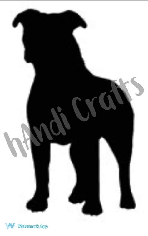 Pitbull Dog Silhouette SVG Design File Silhouette Cameo Cricut