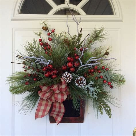 winter wreath christmas wreath holiday wreath winter door