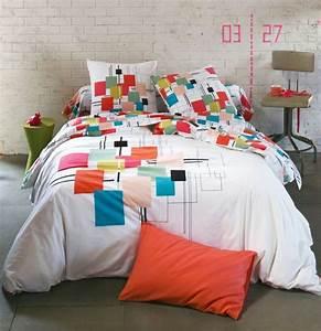 3 Suisses Linge De Lit : graphisme et couleur sur le linge de lit 3 suisses linge de lit les jolies nouveaut s du ~ Teatrodelosmanantiales.com Idées de Décoration