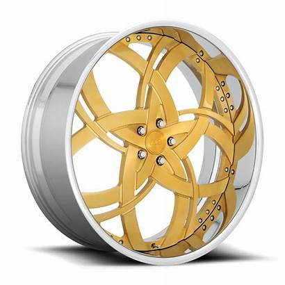 Jungle Gold Brushed Forged Candy Dub Wheels