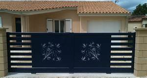 Portail Bois 4m : portail alu coulissant 4m meilleures images d ~ Premium-room.com Idées de Décoration