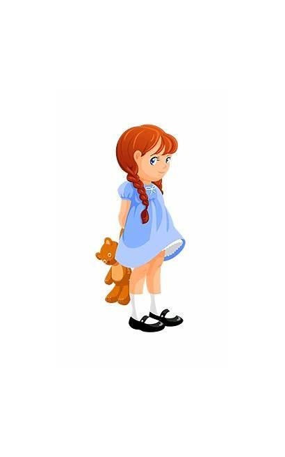 Clipart Pretty Young Clip Standing Shy Woman