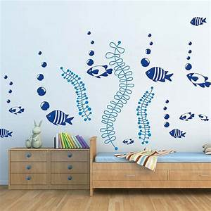 under the sea wall decals fish wall stickers removable fish With under the sea wall decals