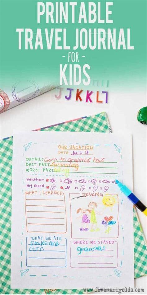 printable travel journal template  kids scrap booking