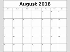 August 2018 Printable Calendar Download November 2018