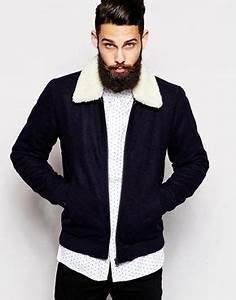 Veste Homme Col Mouton : blouson homme col mouton ~ Dallasstarsshop.com Idées de Décoration