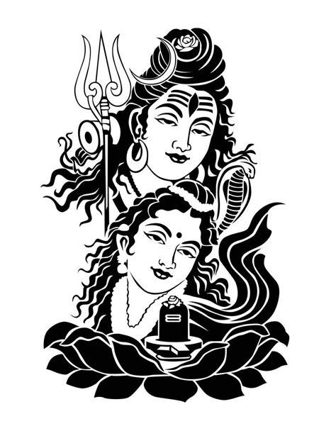 shiv parvati black and white full hd wallpaper download