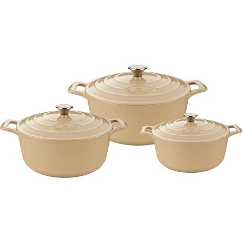 casserole cuisine la cuisine pro 4 cast iron casserole set with