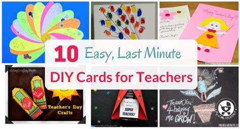 easy  minute diy cards  teachers