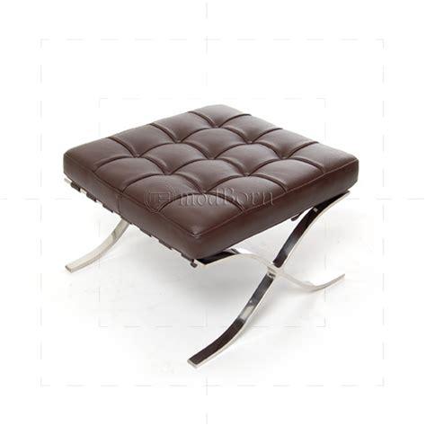 mies van der rohe ottoman ludwig mies van der rohe barcelona style ottoman brown leather