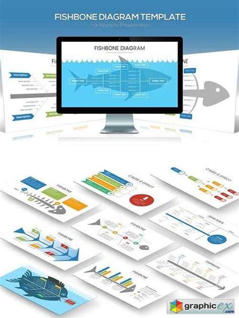 fishbone diagram keynote template   vector