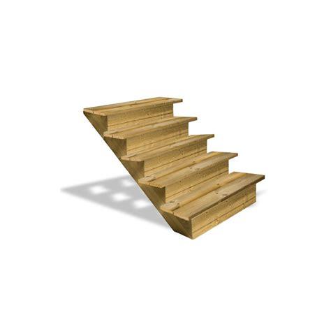 escalier en bois 5 marches pleines deck linea