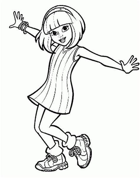american girl coloring pages to print Color On Pages