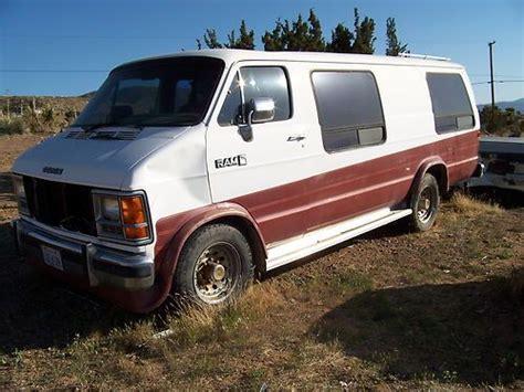 Find Used 1989 Dodge Camper Van For Parts Or Restore Vin