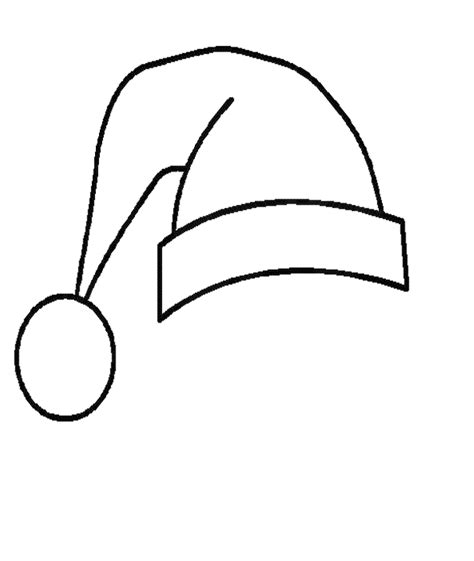 printable santa hat coloring pages  kids