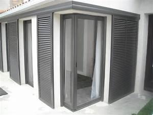 Volet Persienne Pvc Prix : midi alu pose de volets coulissants sur une maison de ~ Premium-room.com Idées de Décoration