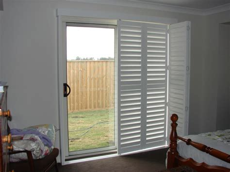 white wood blinds plantation shutters for sliding patio doors