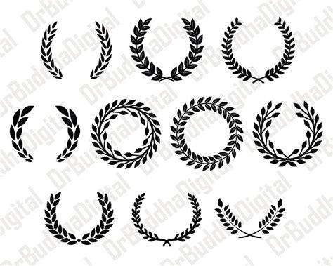 Laurel Wreath Monogram Frame Svg Collection