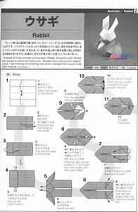Origami Rabbit Diagrams 1