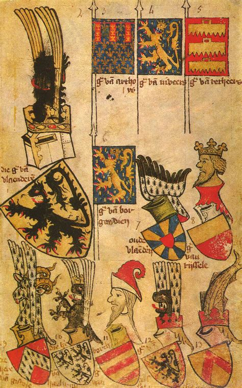 Folio 80r De L'armorial De Gelre  Wikimedia Commons
