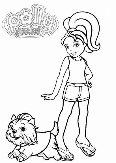 Polly Pocket Coloring Printable Pintar Desenho Imprimir