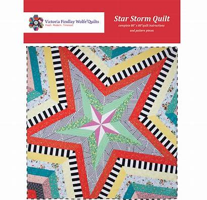 Storm Pattern Quilt Patroon Elise Bestsellers Blues
