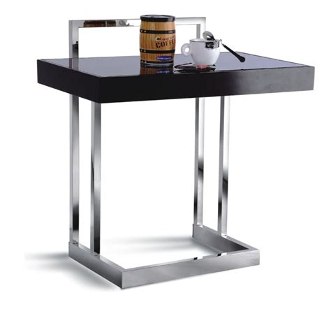 cj tables and modern side table tables for eating laptop chrome grey