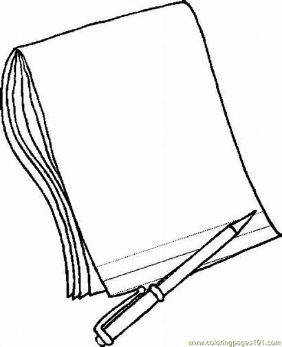 Paper Pencil Coloring Printable Pages Education